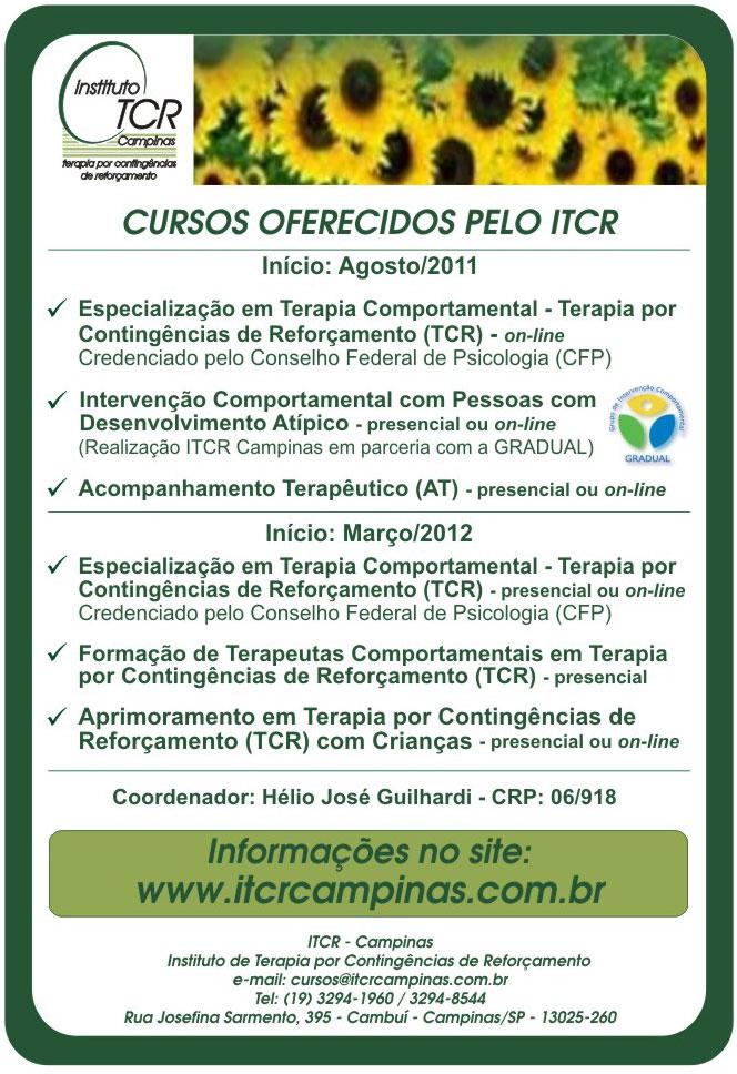 Cursos Oferecidos pelo ITCR no Segundo Semestre de 2011 23