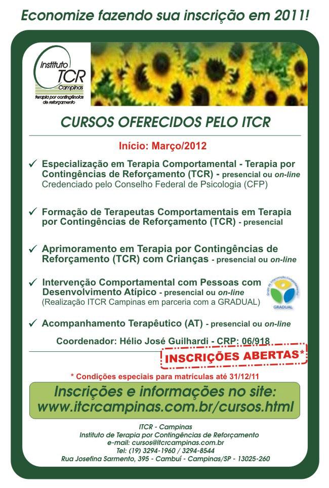 Cursos oferecidos pelo ITCR em 2012 19