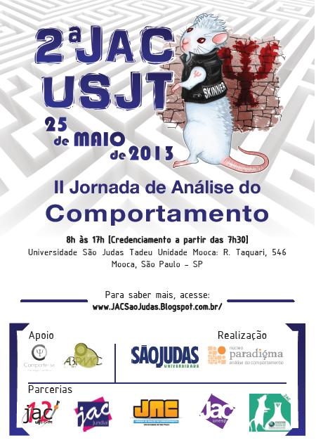 II Jornada de Análise do Comportamento da Universidade São Judas Tadeu - II JAC USJT - São Paulo/SP 5
