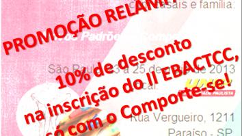 Promoção Relâmpago - 10% de desconto na inscrição no II EBACTCC! 15