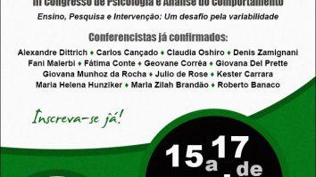 III Congresso de Psicologia e Análise do Comportamento - CPAC (Londrina/PR) 21