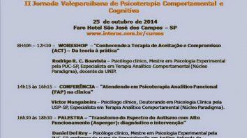 II Jornada Valeparaibana de Psicoterapia Comportamental e Cognitiva - São José dos Campos/SP 21