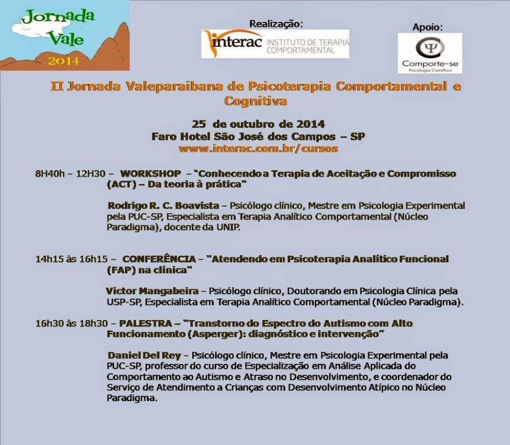 II Jornada Valeparaibana de Psicoterapia Comportamental e Cognitiva - São José dos Campos/SP 5