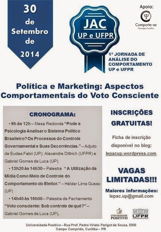 I Jornada de Análise do Comportamento da UP e UFPR - Curitiba/PR 5