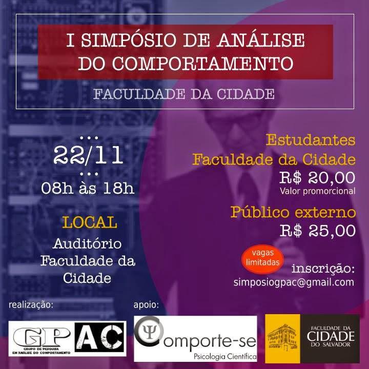 I Simpósio de Análise do Comportamento da Faculdade da Cidade - Salvador/BA 5