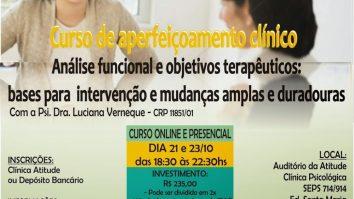 Curso de Aperfeiçoamento de Análise Funcional e Objetivos Terapêuticos - Brasília/DF 21
