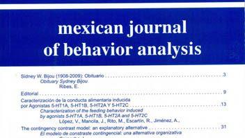 Disponível nova edição da Revista Mexicana de Análisis de la Conducta 5