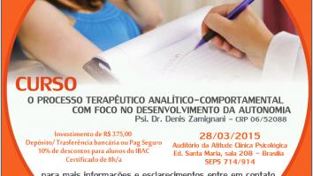 Sorteio de uma inscrição no curso: O Processo Terapêutico Analítico-Comportamental com Foco no Desenvolvimento da Autonomia. 7