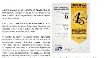 Sociedade Brasileira de Psicologia isenta alunos de baixa renda de pagarem a inscrição 13