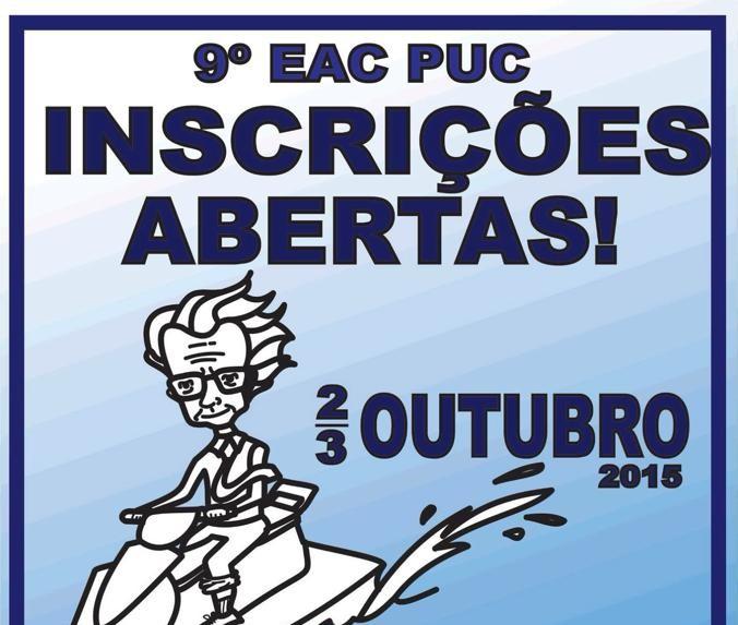 Já está disponível a programação do 9º EAC PUC 1