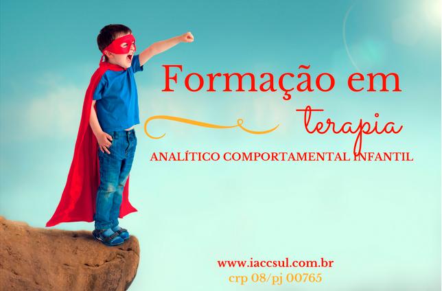 Curso de Formação em Terapia Analítico Comportamental Infantil 5
