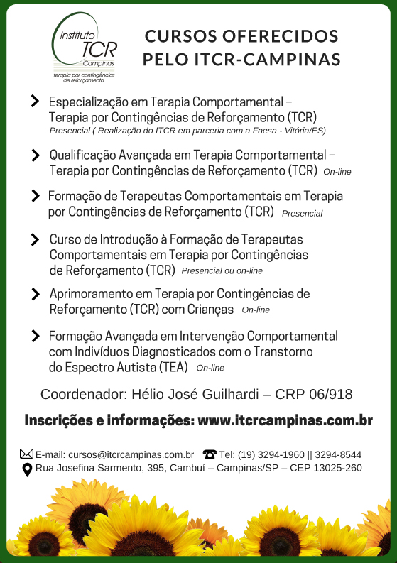 Cursos oferecidos pelo ITCR - Campinas
