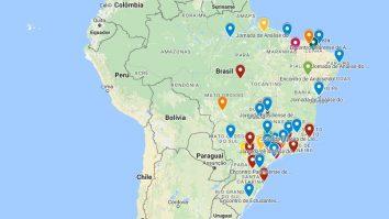 Mapa indica locais dos principais Eventos de AC do Brasil 13