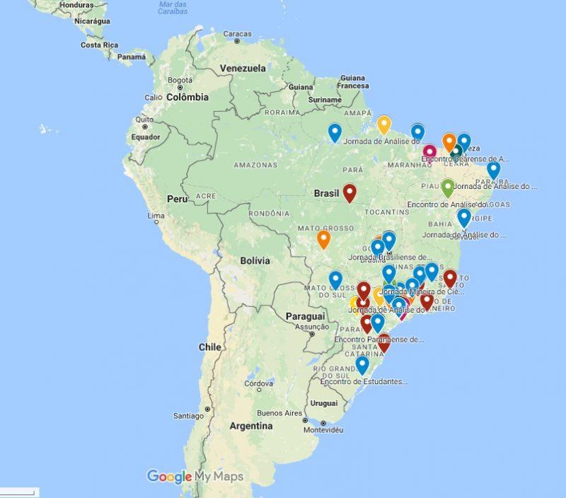Mapa indica locais dos principais Eventos de AC do Brasil 5
