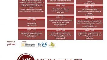 IV Jornada de Análise do Comportamento – USP 2017 17