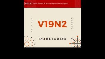 Segundo número da Revista Brasileira de Terapia Comportamental e Cognitiva 13