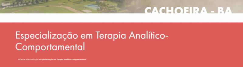 Especialização em Terapia Analítico-Comportamental 1