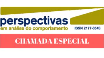 Chamada Especial: Revista Perspectivas em análise do Comportamento 19