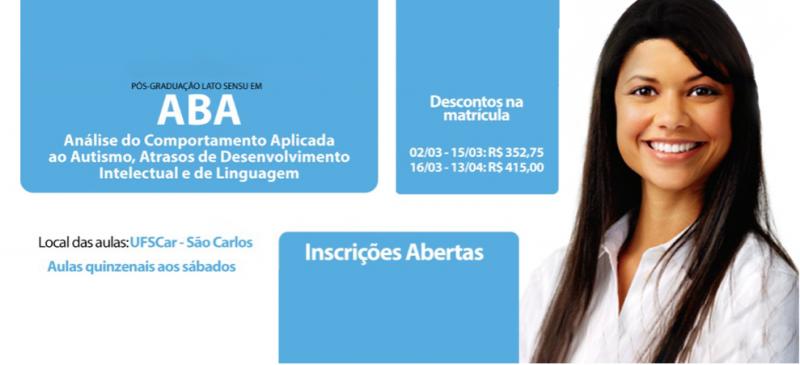 Inscrições abertas para Pós-graduação em Análise do Comportamento Aplicada