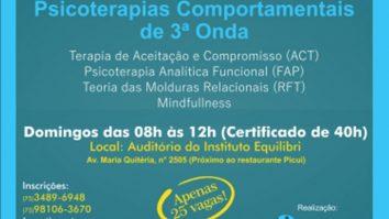 Curso deFormação Inicial em Psicoterapias Comportamentais de 3ª Onda 13