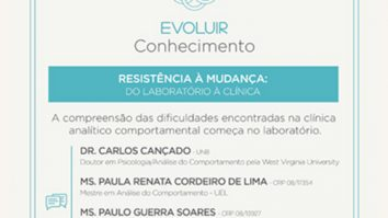"""Curso """"Resistência à mudança: do laboratório à clínica"""" 25"""