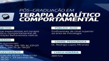 Especialização em Terapia Analítico-Comportamental da UCDB- Universidade Católica Dom Bosco - Campo Grande (MS) 25