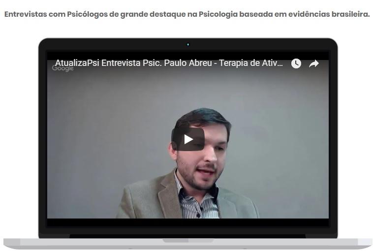 Entrevista AtualizaPSI sobre a Terapia de Ativação Comportamental 8