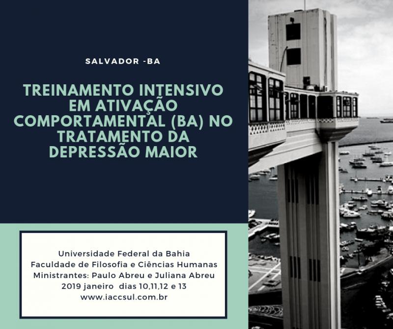 Curso: Treinamento Intensivo em Ativação Comportamental (BA) no Tratamento da Depressão Maior- Bahia 13
