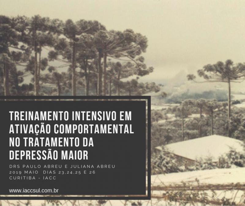 Curso: Treinamento Intensivo em Ativação Comportamental (BA) no Tratamento da Depressão Maior - Curitiba 13