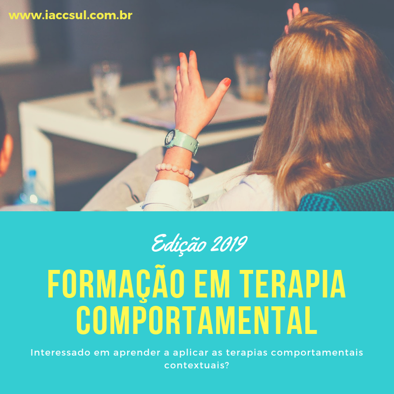 Curso: Formação em Terapia Comportamental - 2019 13