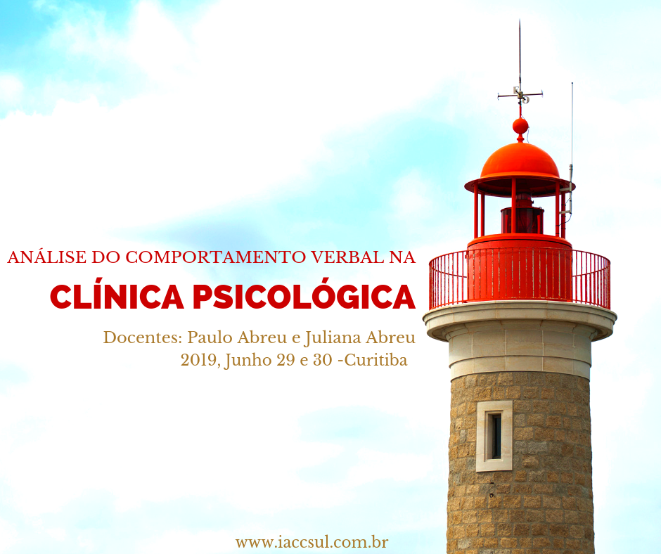 "Curso: "" Análise do Comportamento Verbal na Clínica Psicológica - 2019"" 1"