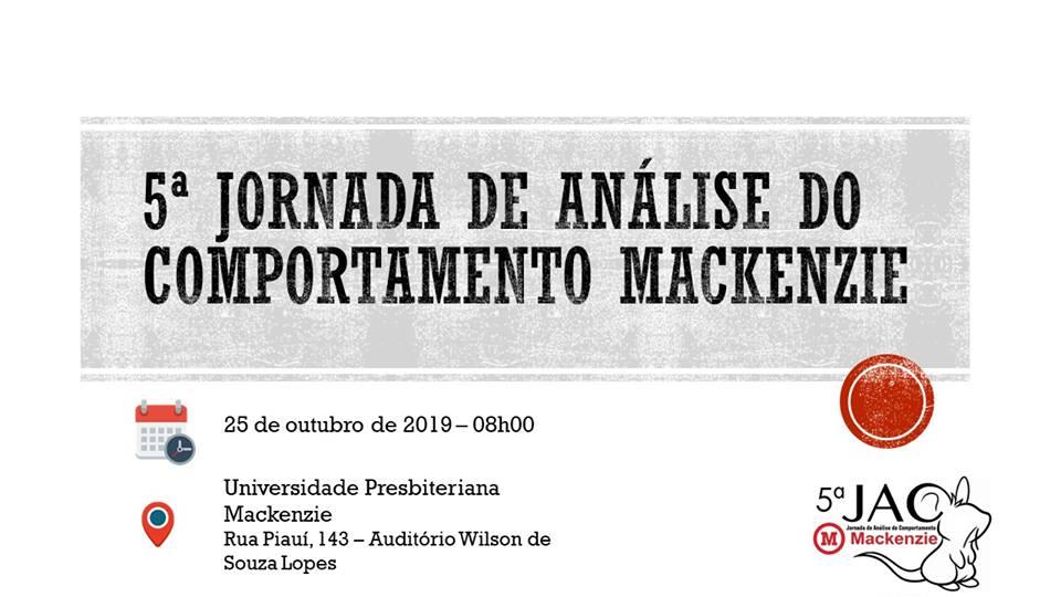 V Jornada de Análise do Comportamento Mackenzie 1