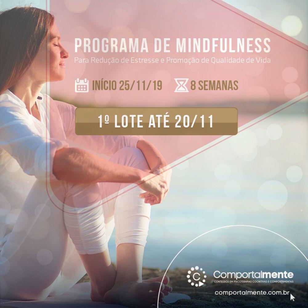 """""""Curso On-line"""": Programa Online de Mindfulness para Redução do Estresse e Promoção da Qualidade de Vida 1"""
