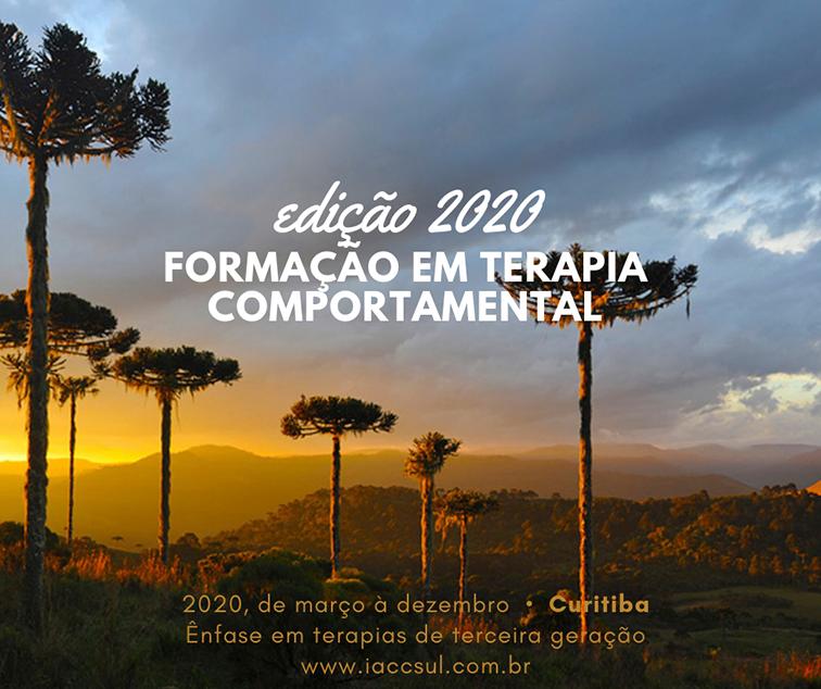 Formação em Terapia Comportamental - IACC (Instituto de Análise do Comportamento de Curitiba) 1