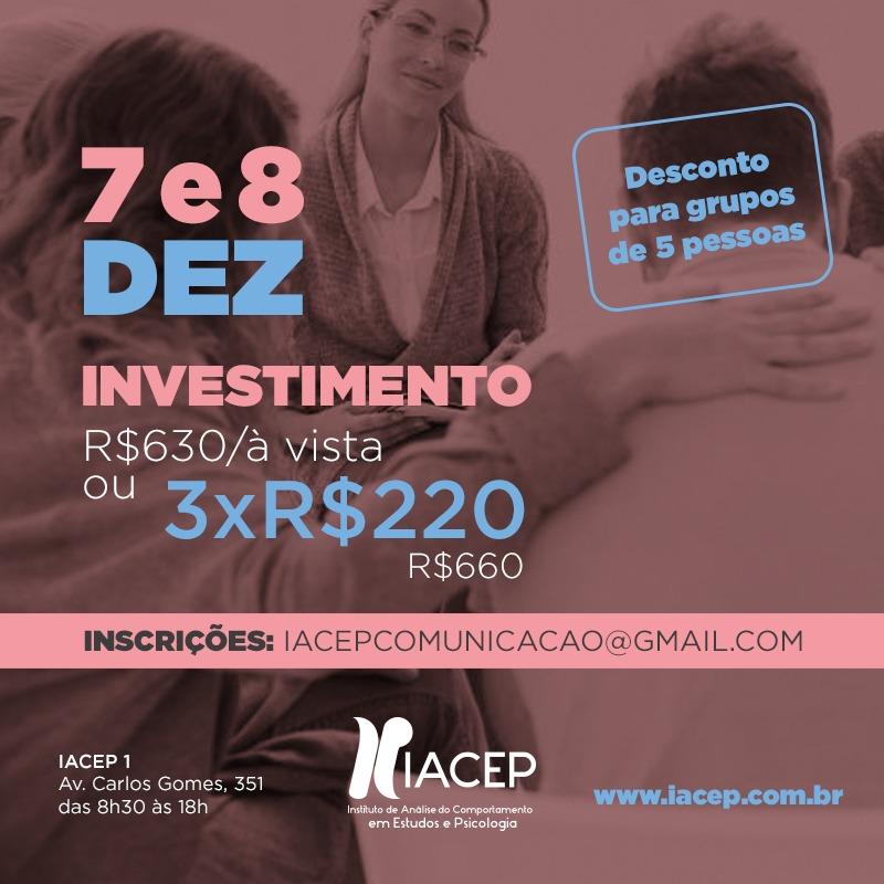 Workshop FAP - Nível 1- para terapeutas