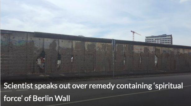 Muro de Berlim: homeopatia para quem crê. 1