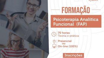Inscrições abertas para o curso de Formação em Psicoterapia Analítica Funcional(FAP) - IBAC 13