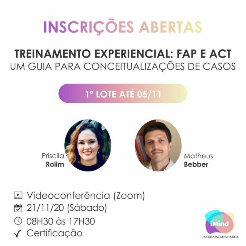 Treinamento Experiencial: FAP e ACT - Um Guia para Conceitualização de Casos 1
