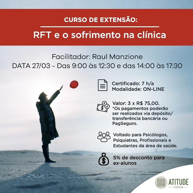Curso de Extensão: RFT e o sofrimento na clínica 1